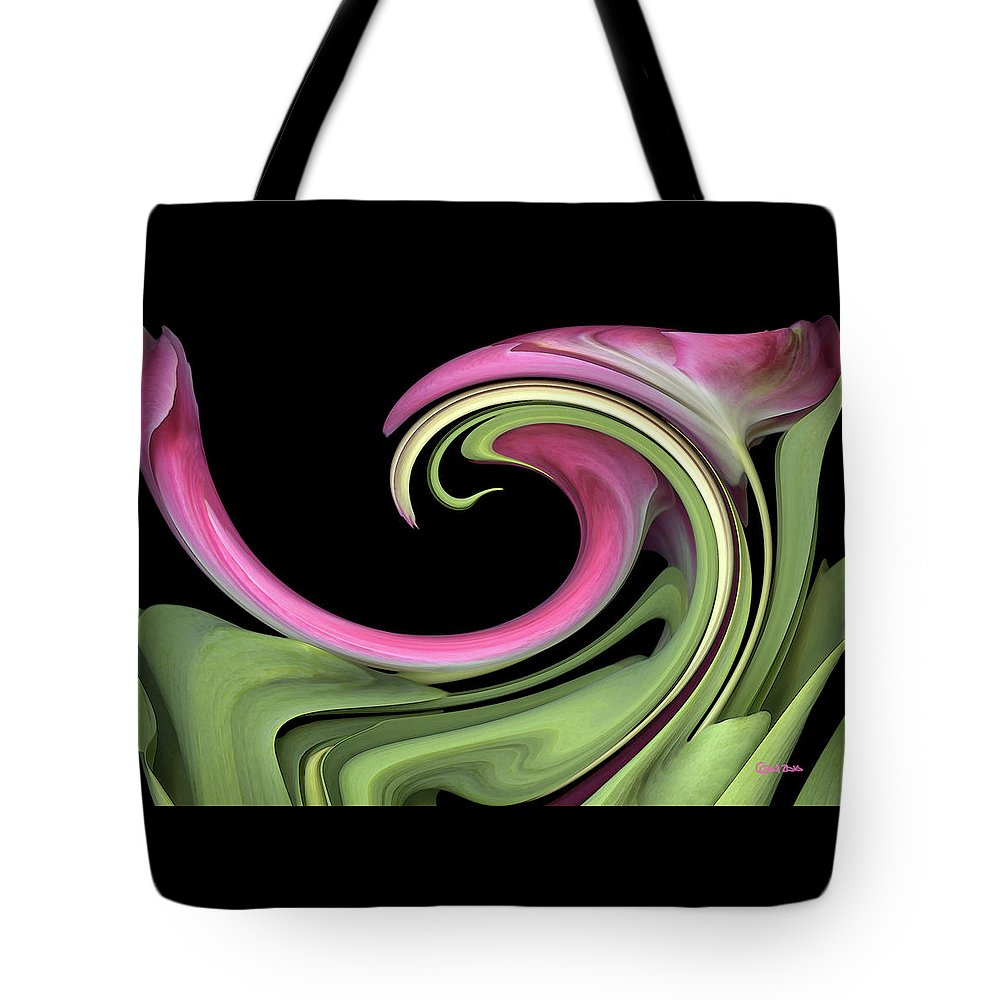 Floral Tote Bag featuring the photograph Slip 'n' Slide by Carel Schmidlkofer