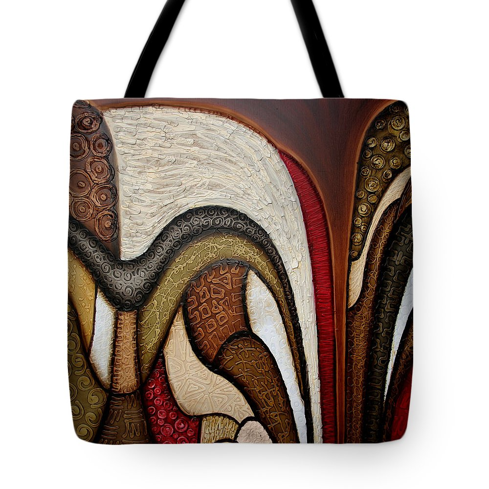Abstract Art Tote Bag featuring the painting Slippery Slope by Jill English