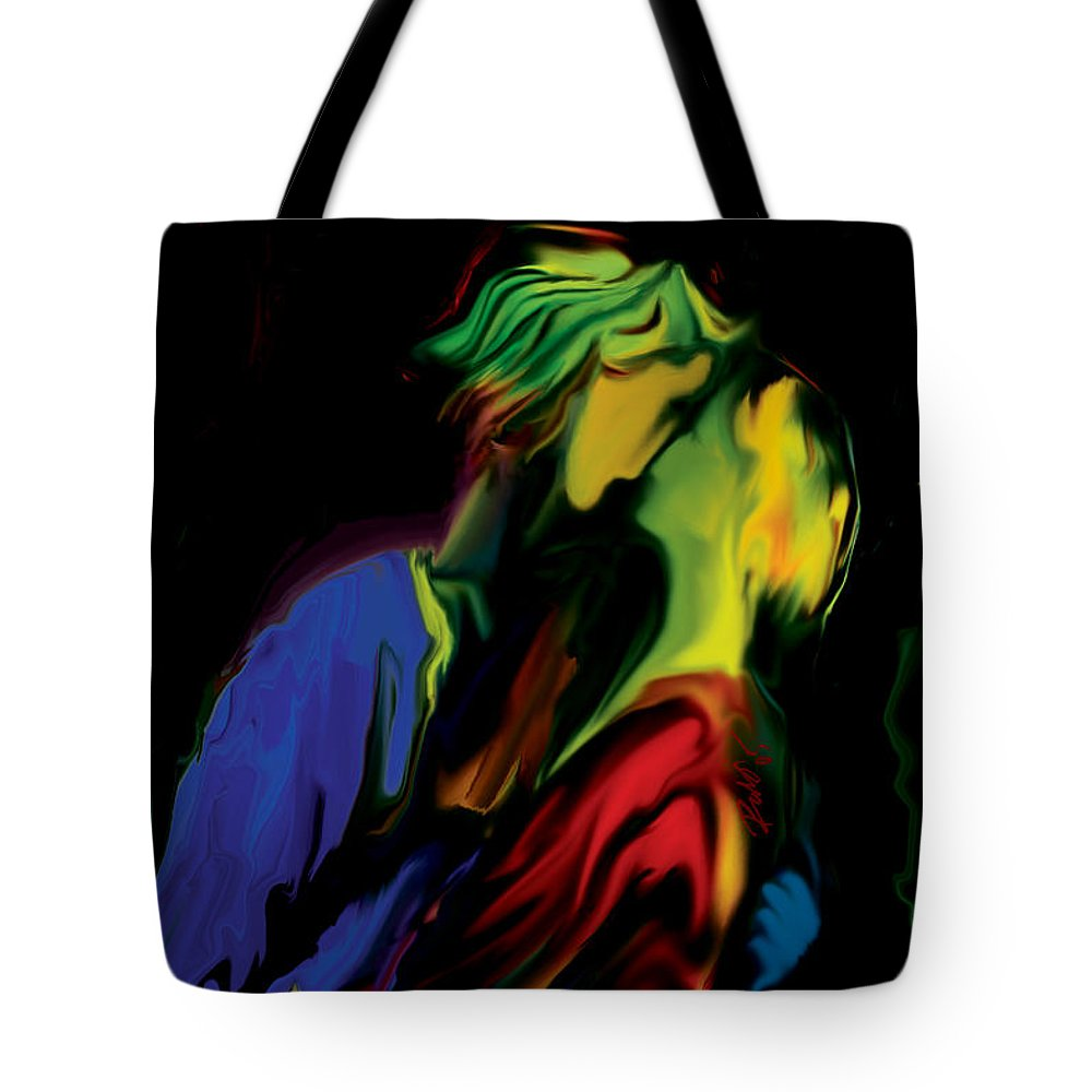 Black Tote Bag featuring the digital art Slow Dance by Rabi Khan