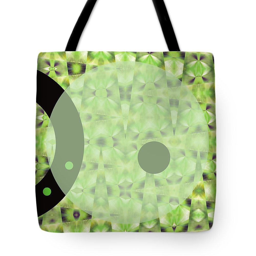 Abstract Tote Bag featuring the digital art Slow Fade by Ruth Palmer