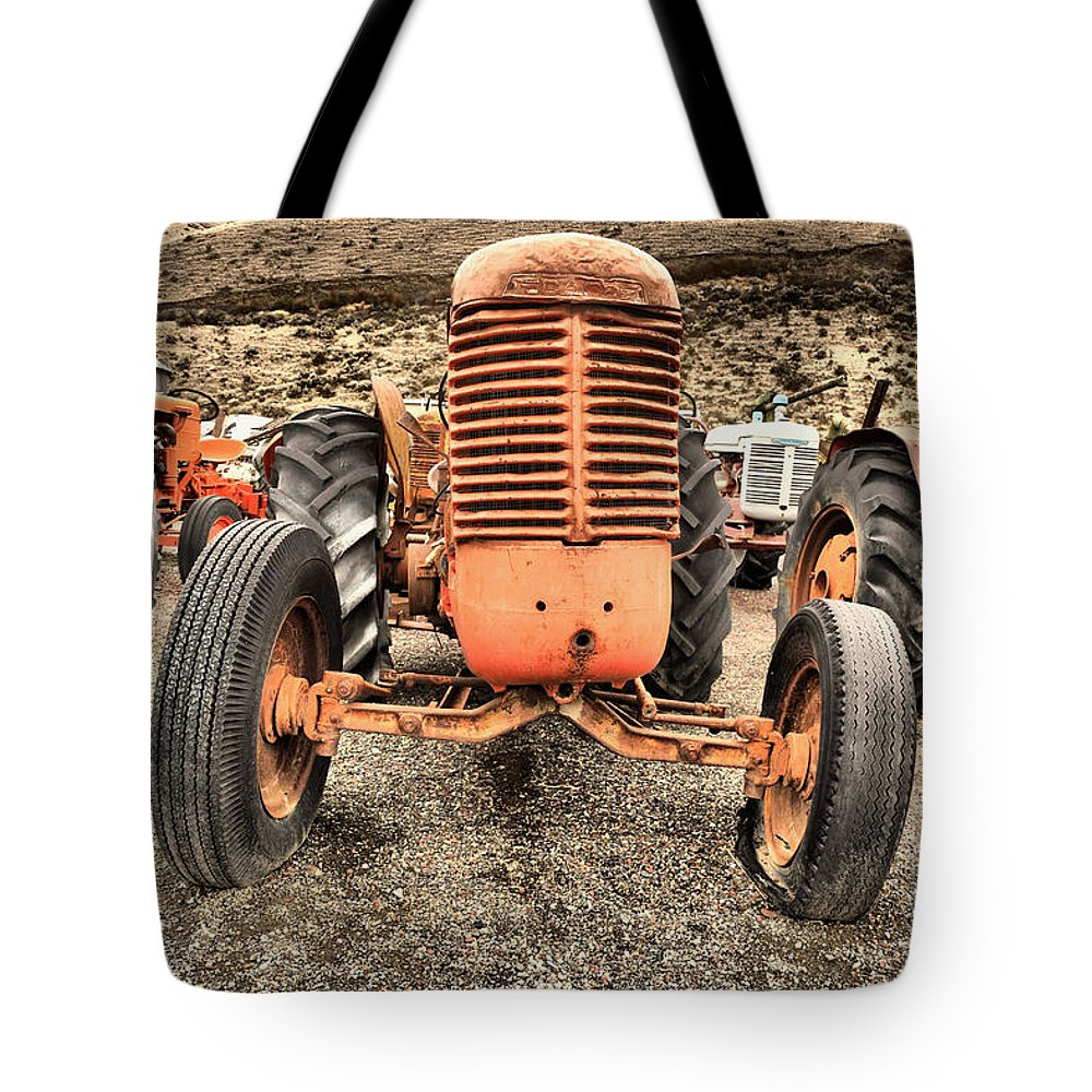 Tractor Tote Bag featuring the photograph Slow Rural Decay by Jeff Swan