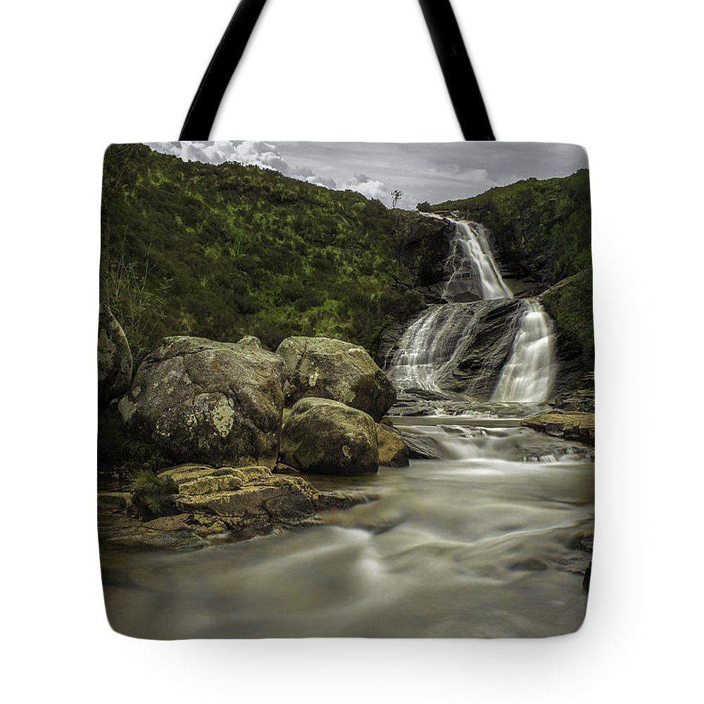 Sky Tote Bag featuring the photograph Slow Waters by Aksana Tek