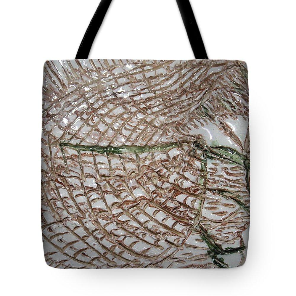 Jesus Tote Bag featuring the ceramic art Slumbering - Tile by Gloria Ssali