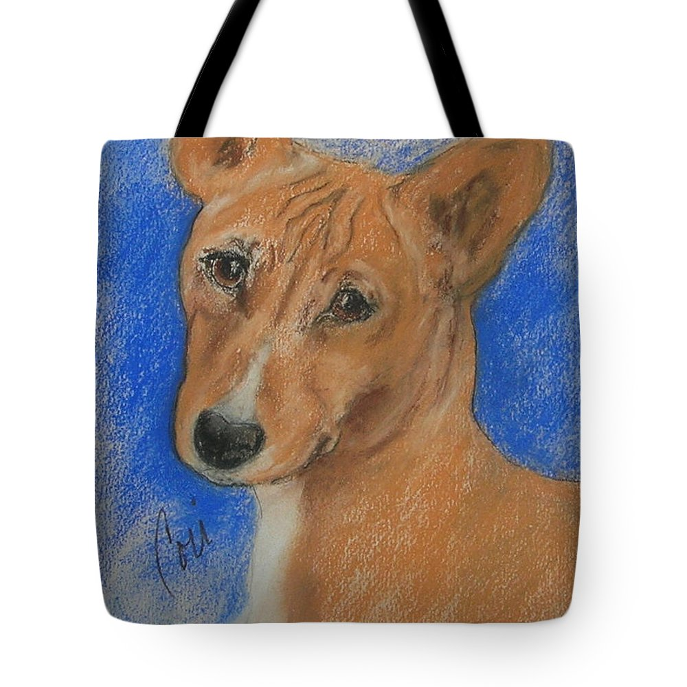 Dog Tote Bag featuring the drawing Small And Mighty by Cori Solomon
