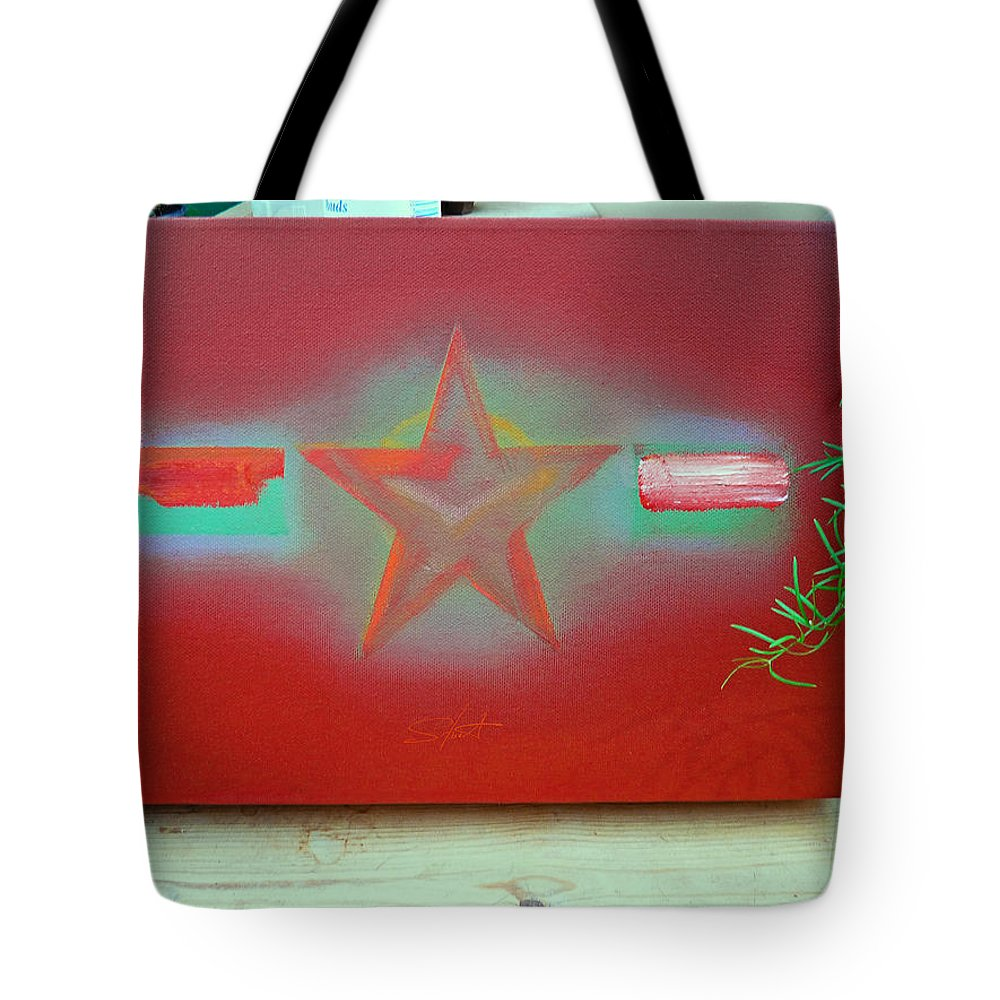 Painting Tote Bag featuring the painting Small Canvas In The Studio by Charles Stuart