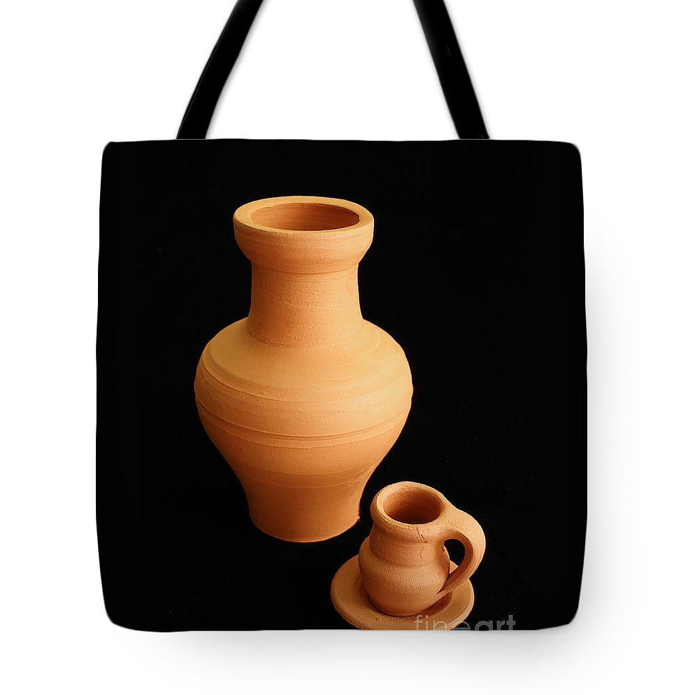 Ceramics Tote Bag featuring the photograph Small Pottery Items by Gaspar Avila
