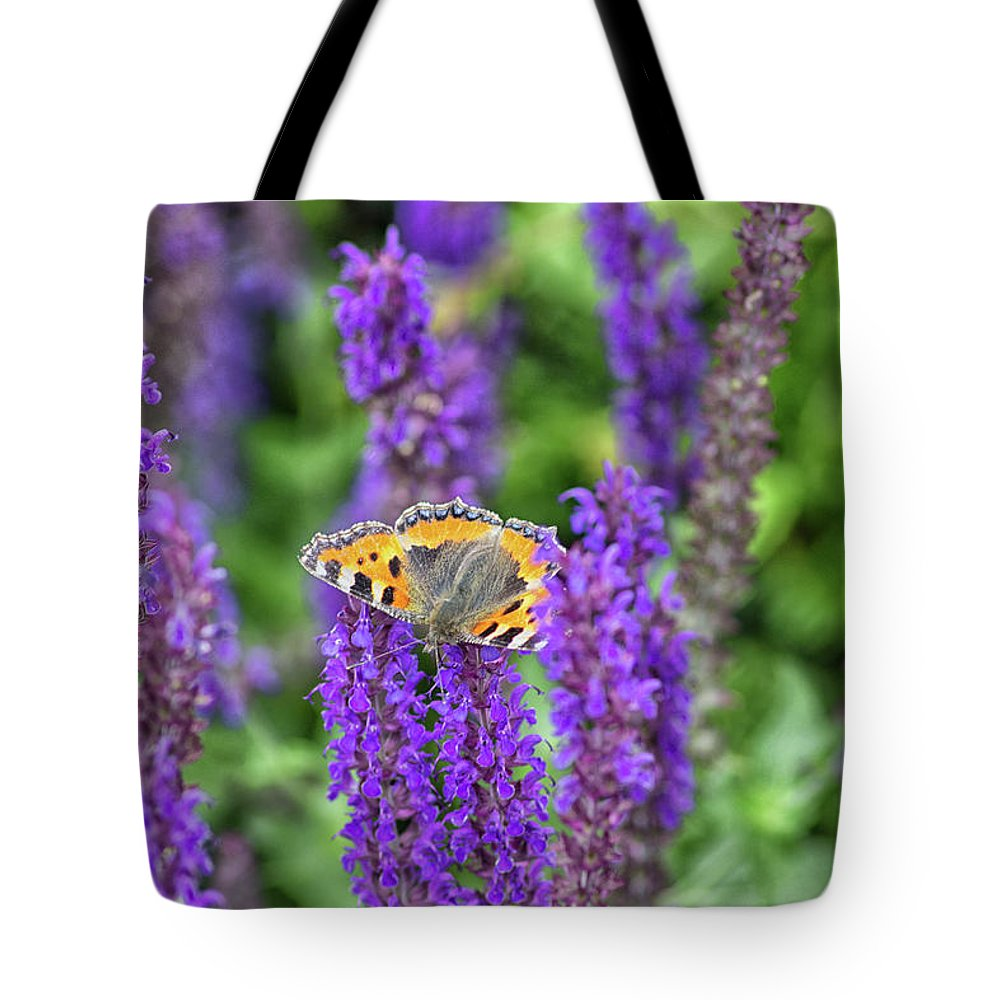 Butterfly Tote Bag featuring the photograph Small Tortoiseshell by Martin Newman