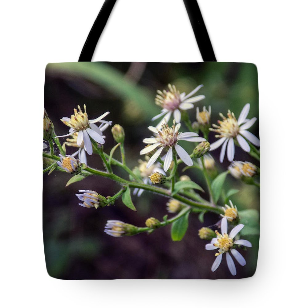 Blue Flowers Tote Bag featuring the photograph Small Town Blues 2 by William Tasker