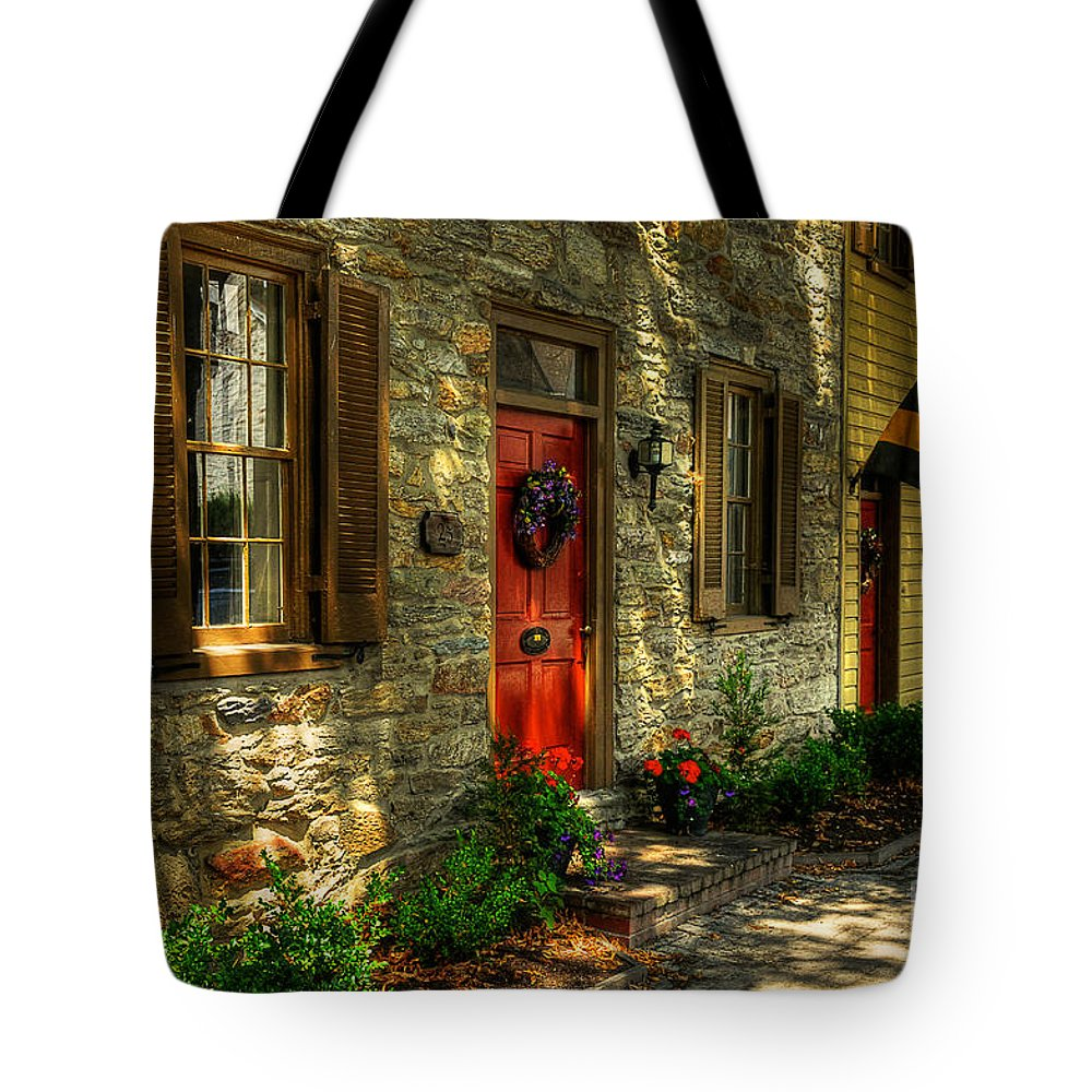 Small Town Tote Bag featuring the photograph Small Town Usa by Lois Bryan