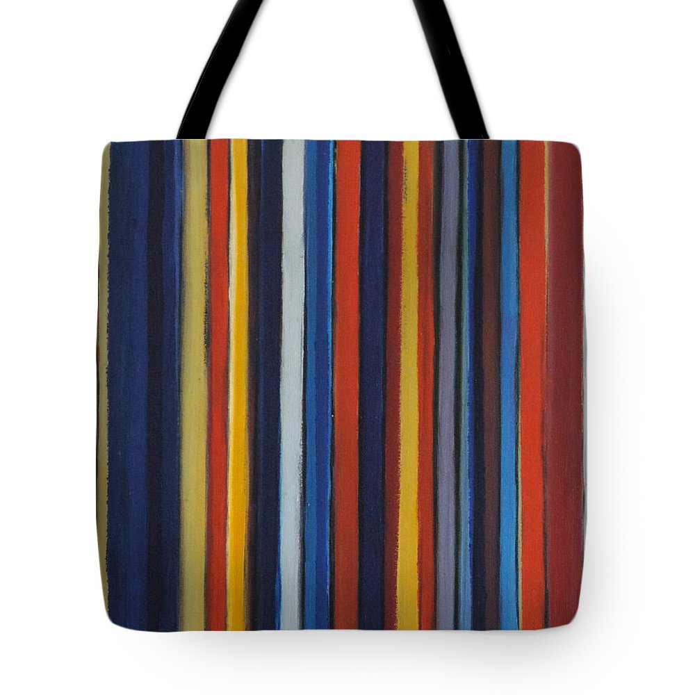 #abstract Tote Bag featuring the painting Small Tracks by Erin Trunel