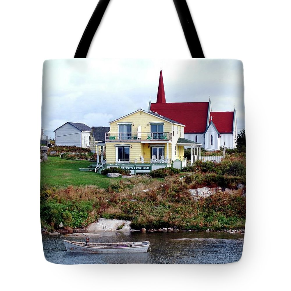 Church Tote Bag featuring the photograph Small Village by Kathleen Struckle