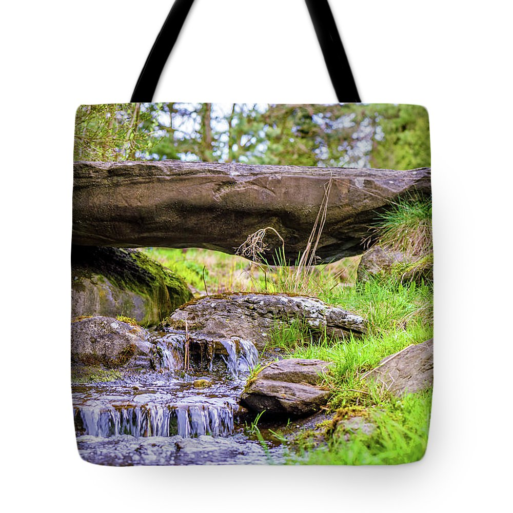 Waterfall Tote Bag featuring the photograph Small Waterfall 1 by Viktor Birkus