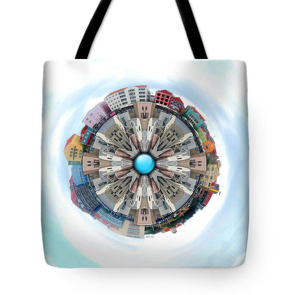 Small World Tote Bag featuring the photograph Small World In The Clouds by Phil Perkins