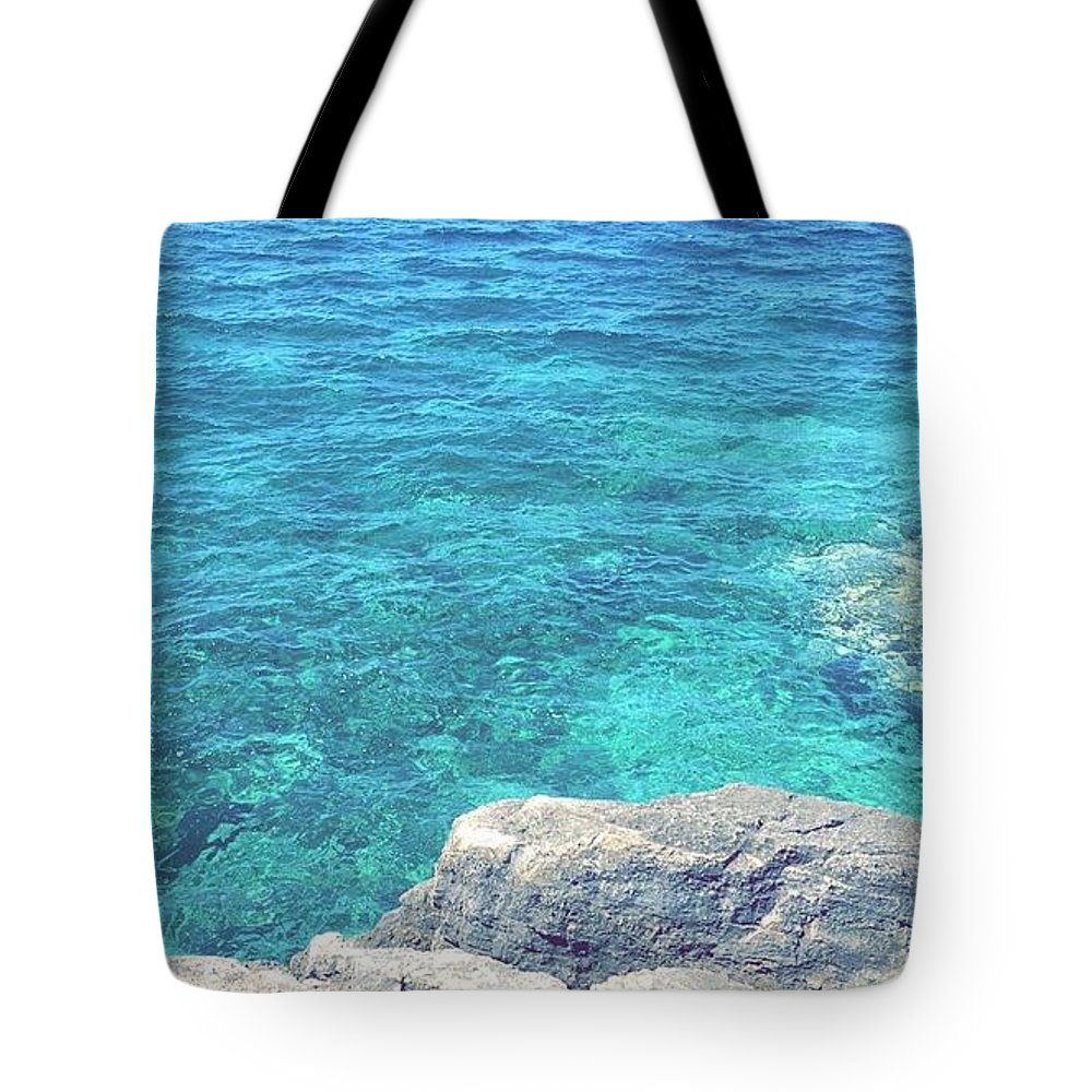 Landscape Tote Bag featuring the pyrography Smdl by Laura Pia Giovanna Morocutti