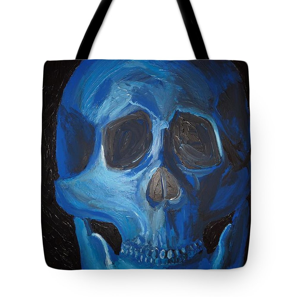 Skull Tote Bag featuring the painting Smile by Joshua Redman