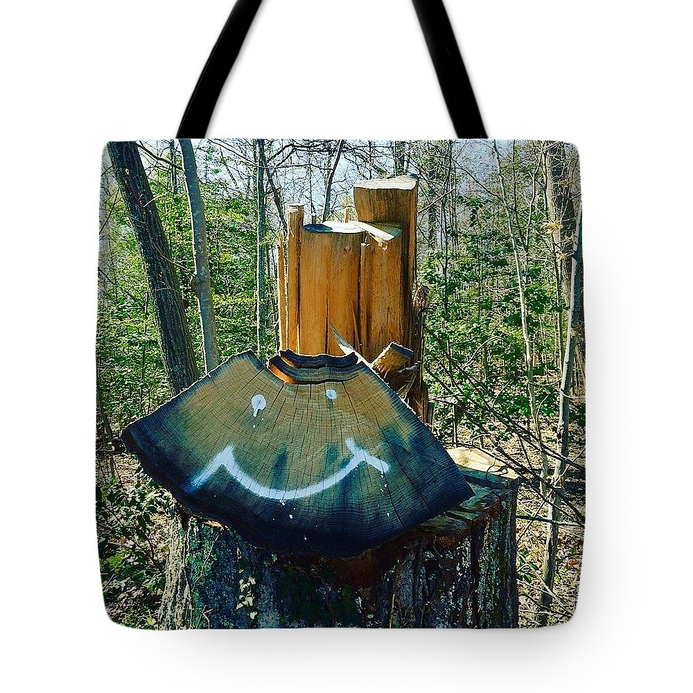 Leaf Tote Bag featuring the photograph Smile by Micheal Driscoll