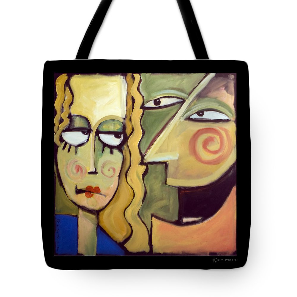 Humorous Tote Bag featuring the painting Smile by Tim Nyberg