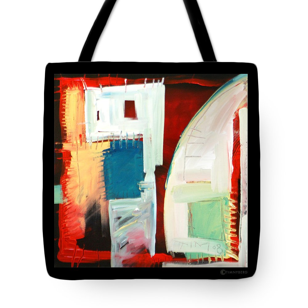 Color Tote Bag featuring the painting Smilin by Tim Nyberg