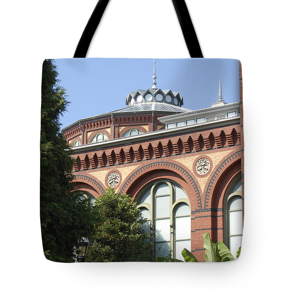 Smithsonian Tote Bag featuring the photograph Smithsonian Arches by Faith Harron Boudreau