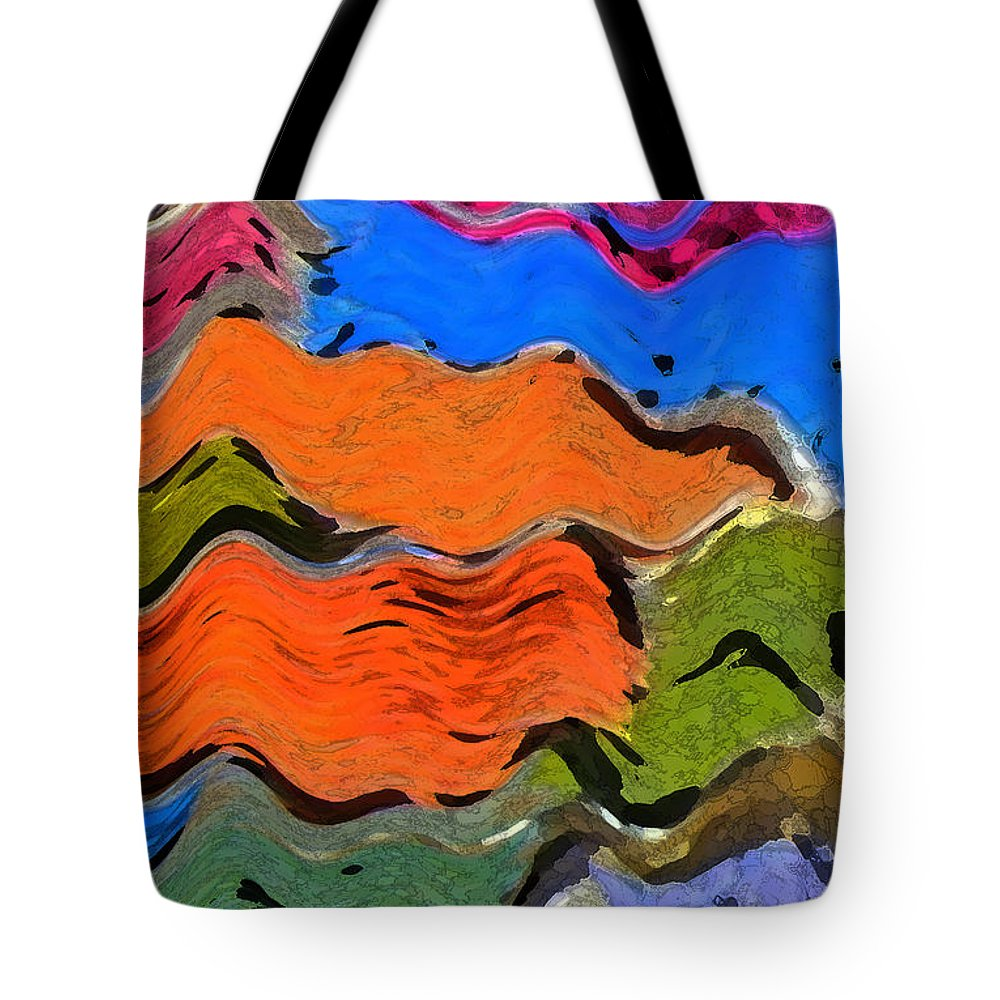 Abstract Tote Bag featuring the digital art Smokerings by Lenore Senior
