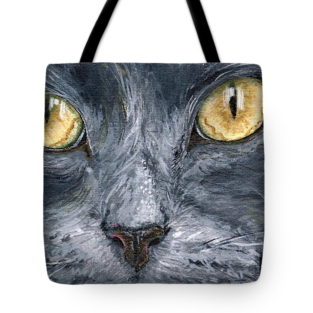 Charity Tote Bag featuring the painting Smokey by Mary-Lee Sanders