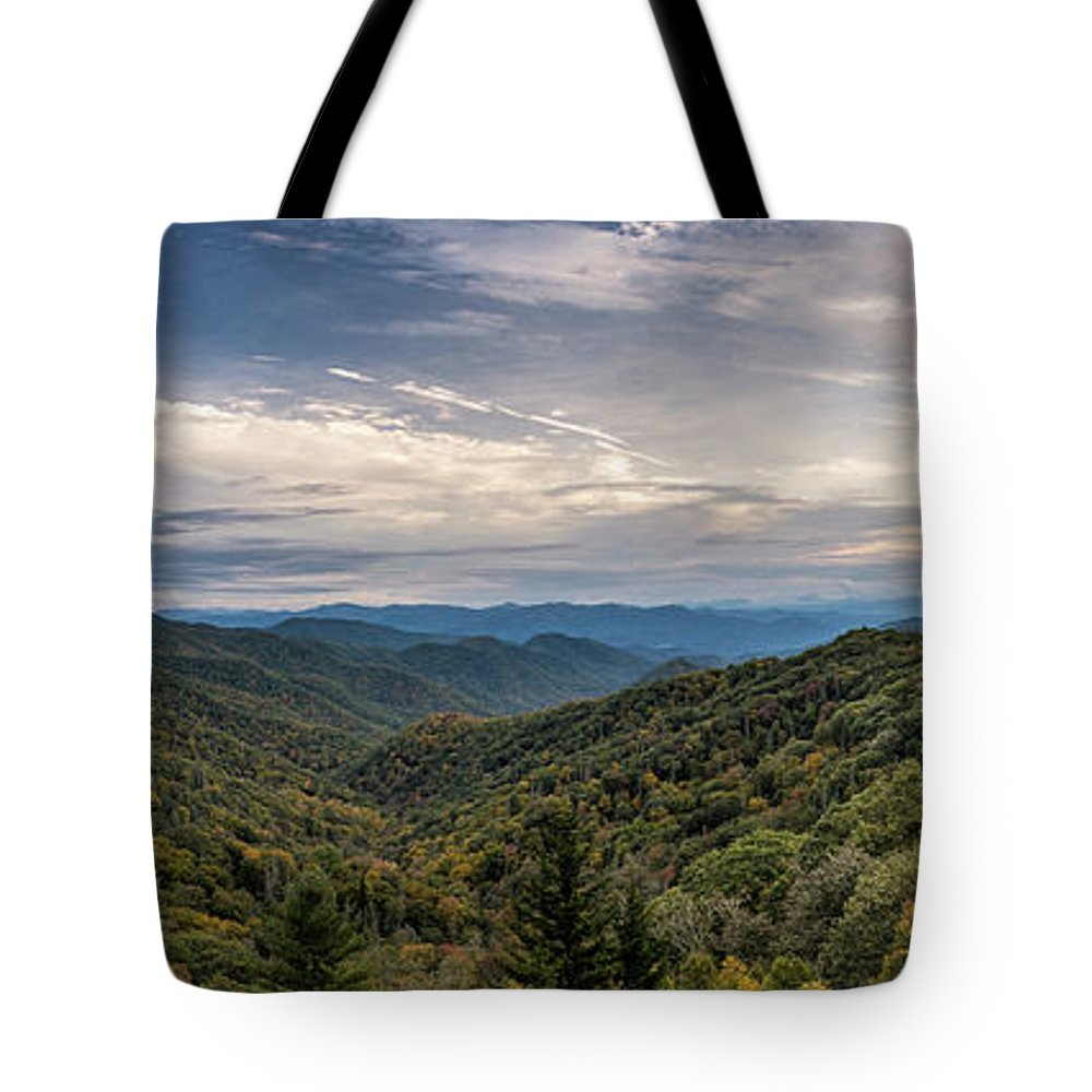 Mountain Tote Bag featuring the photograph Smokey Mountain Sky by David Morefield
