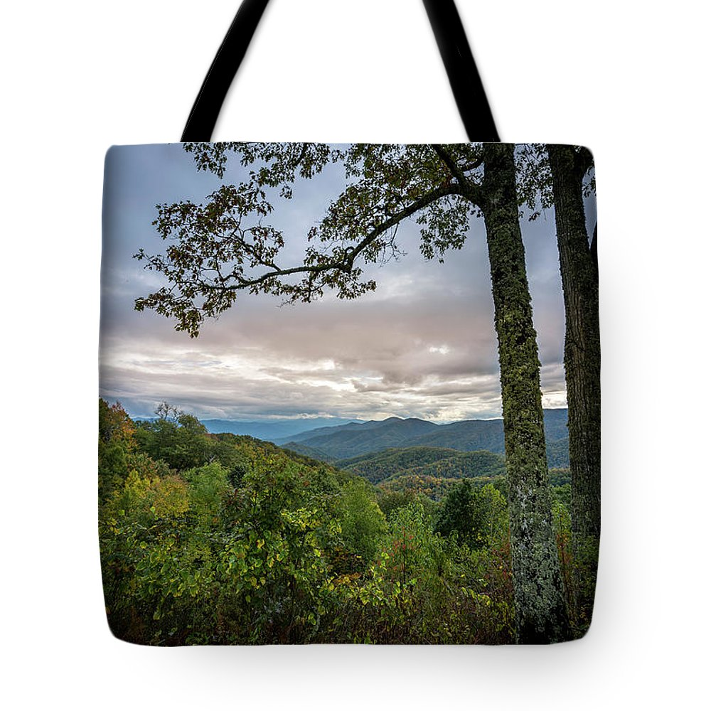 Mountain Tote Bag featuring the photograph Smokey Mountain Sunset by David Morefield