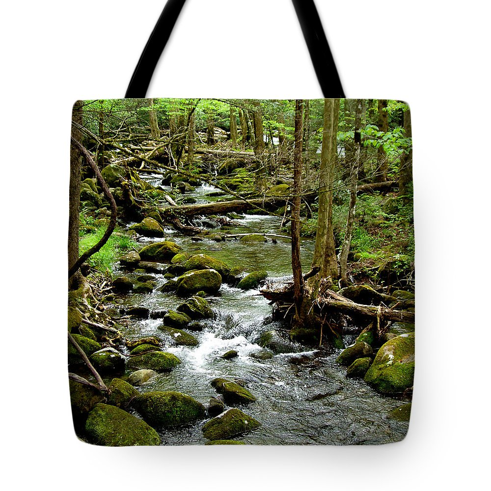 River Tote Bag featuring the photograph Smoky Mountain Stream 2 by Nancy Mueller