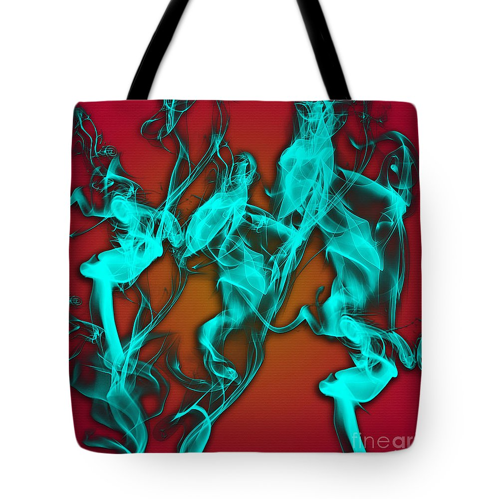Clay Tote Bag featuring the digital art Smoky Shadows by Clayton Bruster