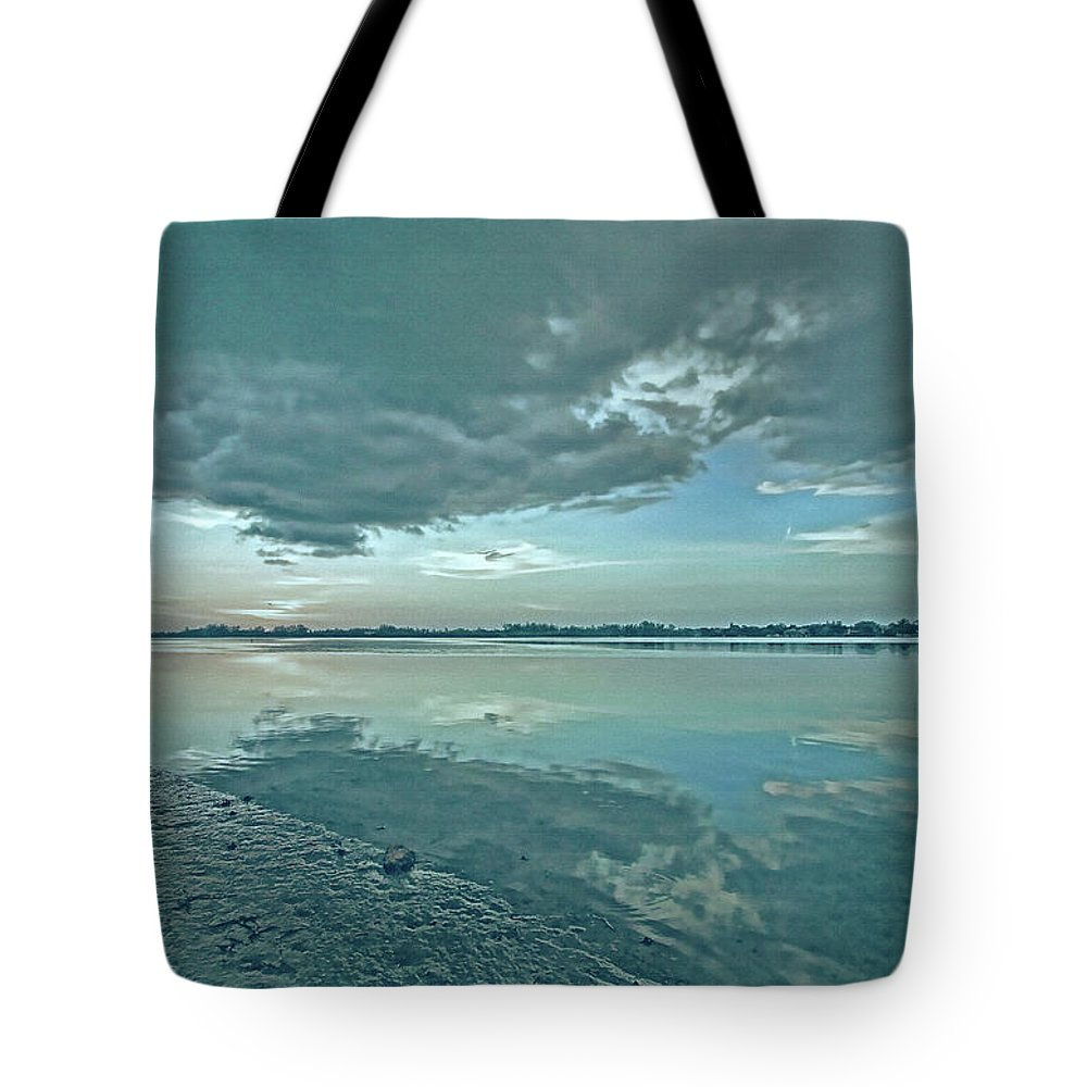 Blue Sky Tote Bag featuring the photograph Smooth Blues by HH Photography of Florida
