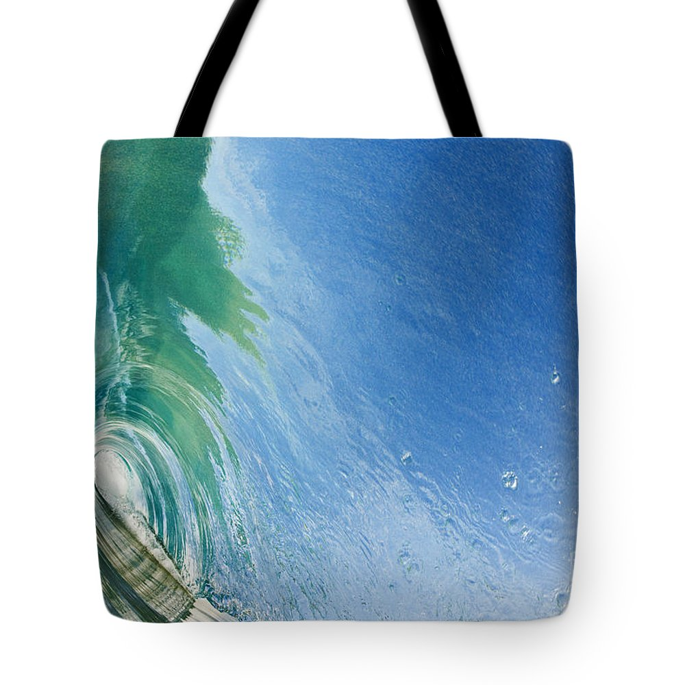 Amazing Tote Bag featuring the photograph Smooth Wave Tube by MakenaStockMedia - Printscapes
