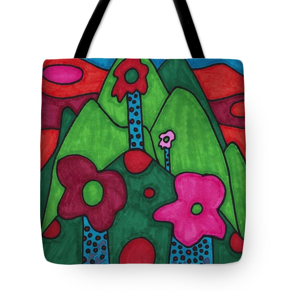Smurf Tote Bag featuring the drawing Dream Land by Brian Murray