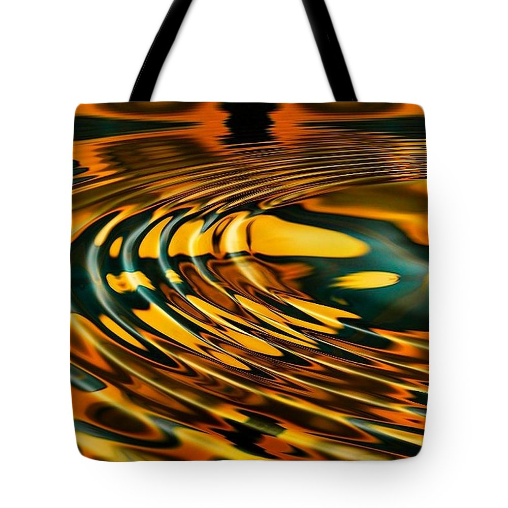 Ripple Tote Bag featuring the digital art Snake Oil by Robert Orinski