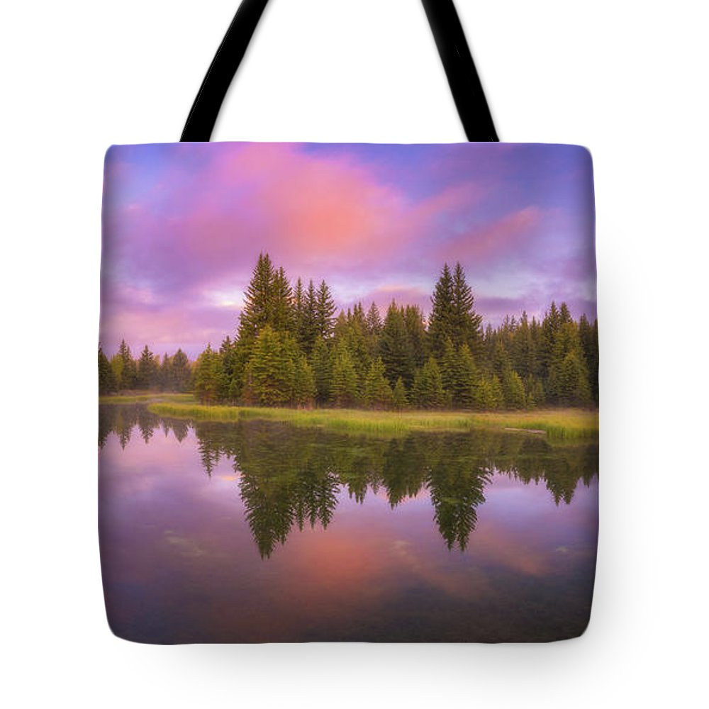 Reflections Tote Bag featuring the photograph Snake River Sunrise by Darren White