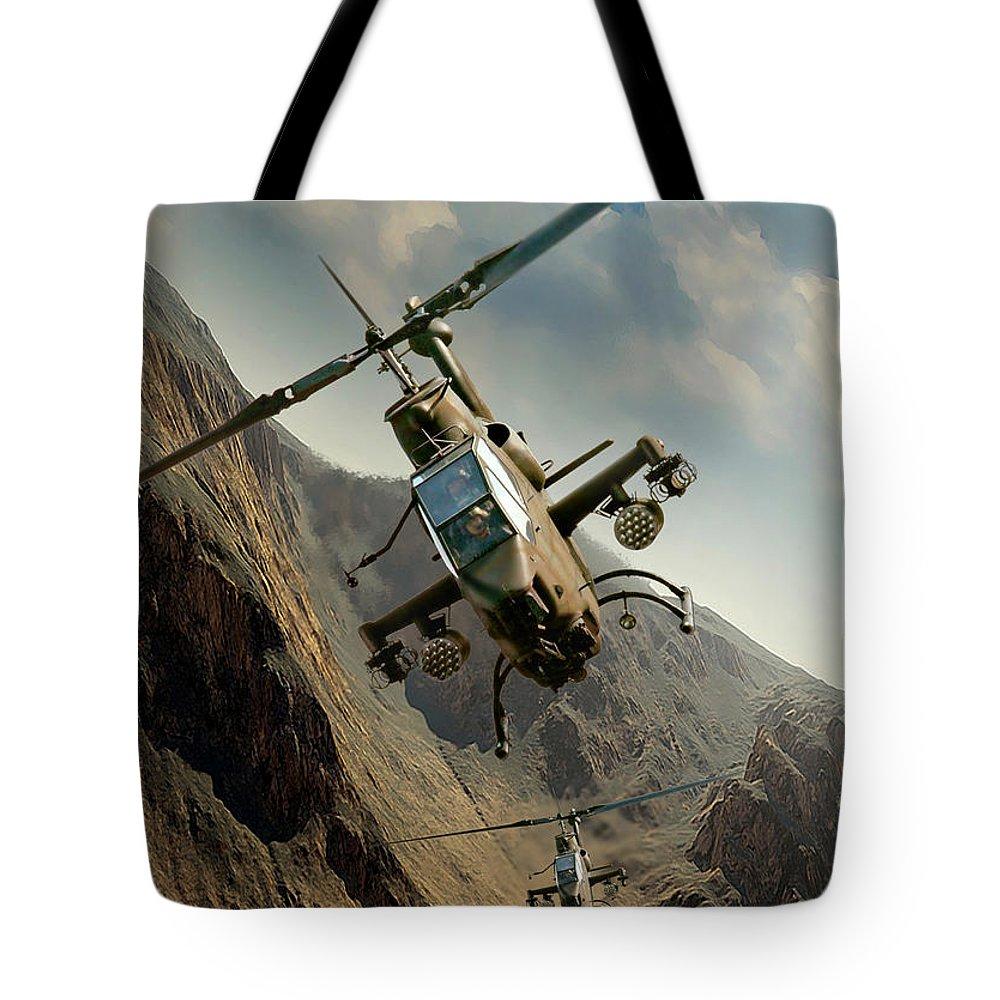 War Tote Bag featuring the digital art Snakes by Peter Van Stigt