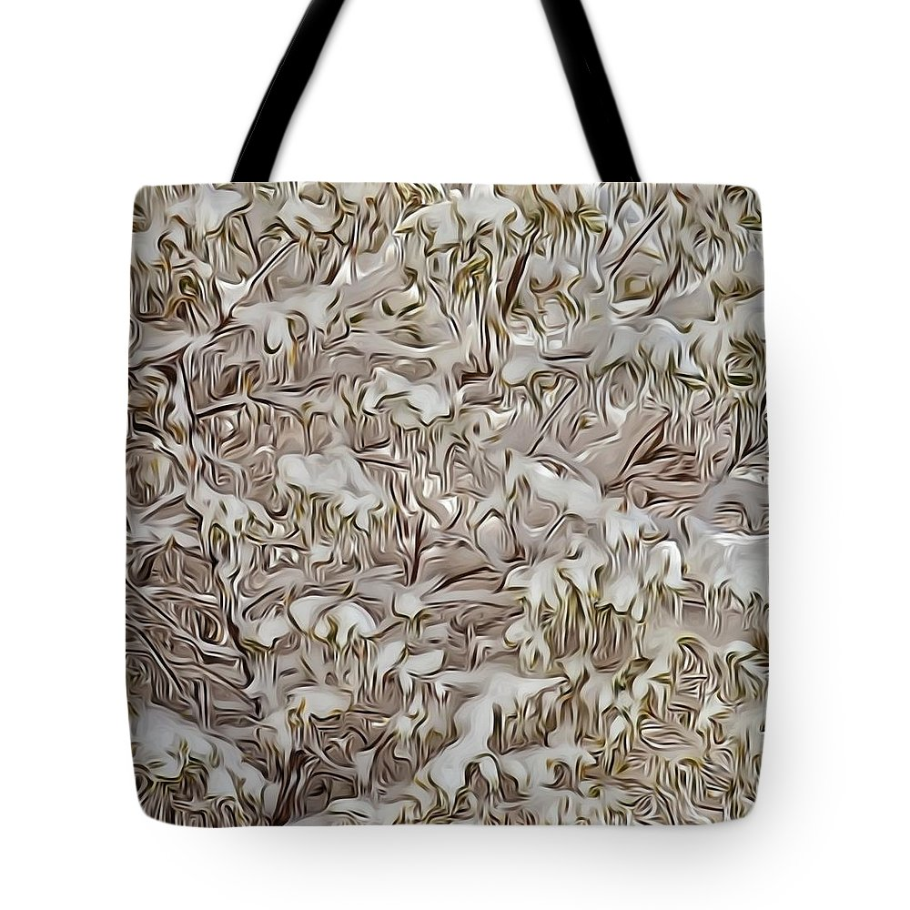 Snow Tote Bag featuring the photograph Snow Cover by Patricia Black