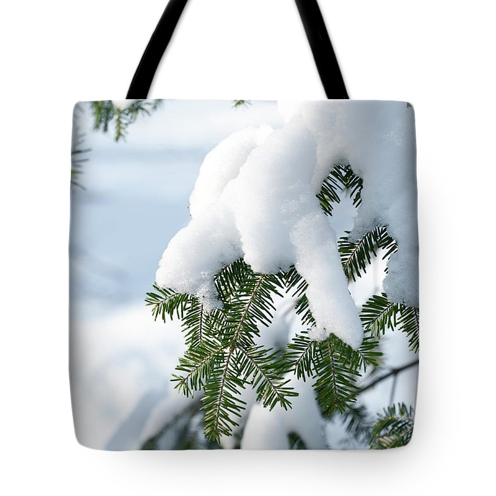 Snow Tote Bag featuring the photograph Snow Day by Audrey Wilkie