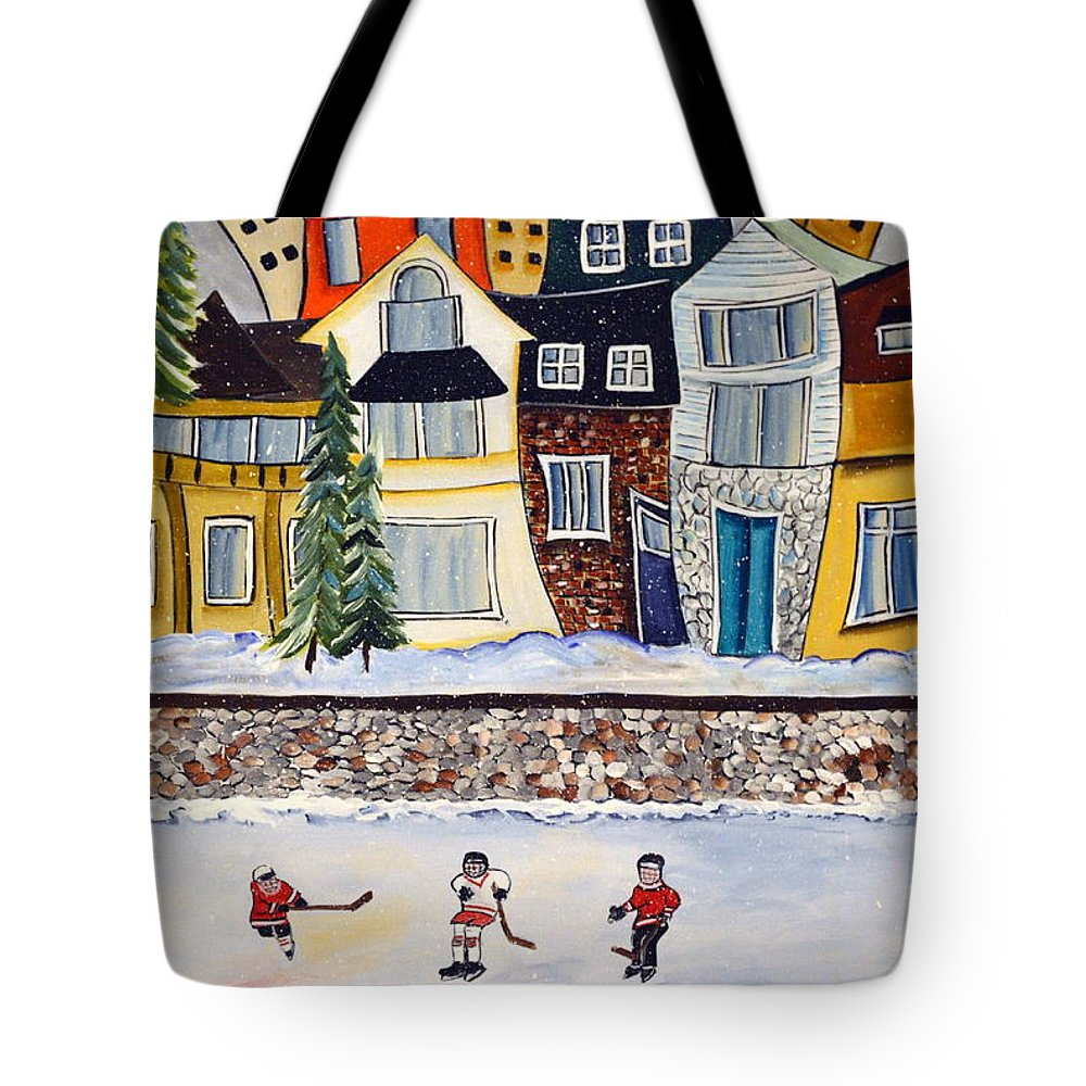 Acrylic Tote Bag featuring the painting Snow Day by Heather Lovat-Fraser