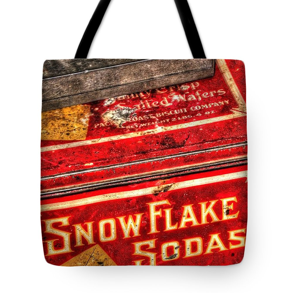 Or Tote Bag featuring the photograph Snow Flake Sodas 767 by Jerry Sodorff