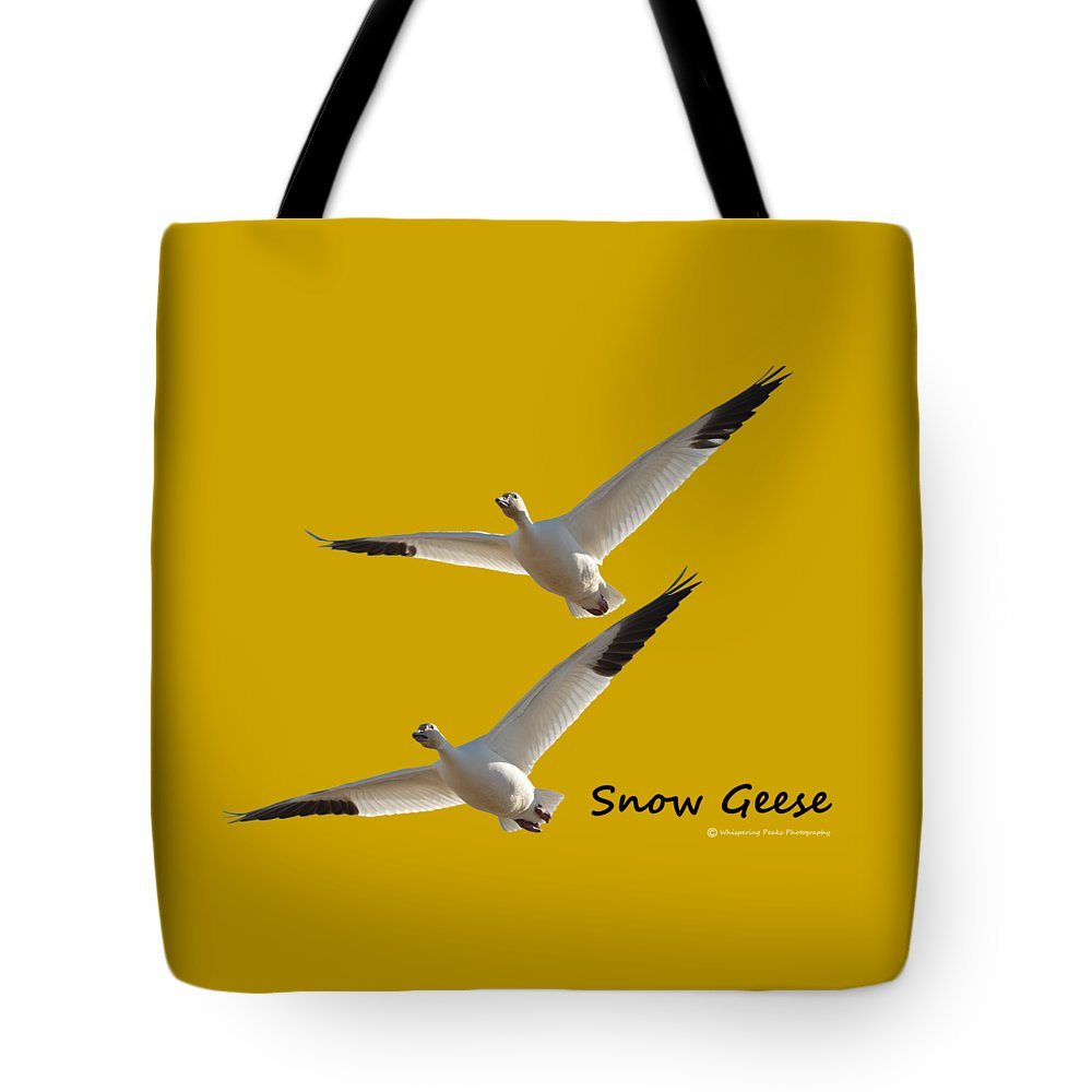 Snow Geese Tote Bag featuring the photograph Snow Geese by Whispering Peaks Photography