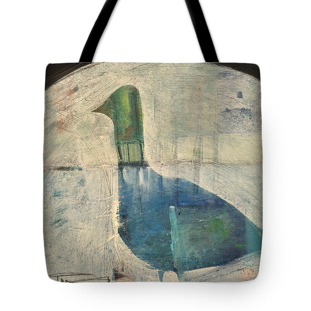 Bird Tote Bag featuring the painting Snow Goose by Tim Nyberg