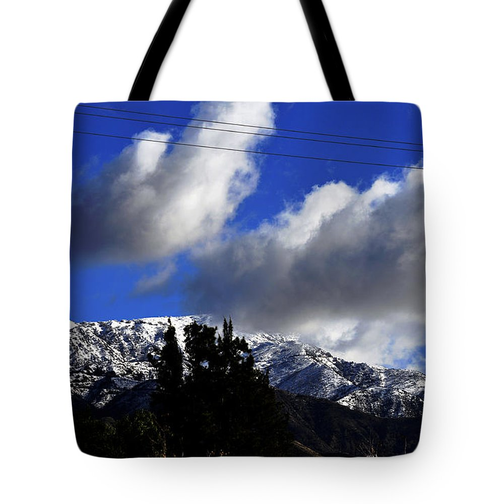 Clay Tote Bag featuring the photograph Snow Line In Socal by Clayton Bruster