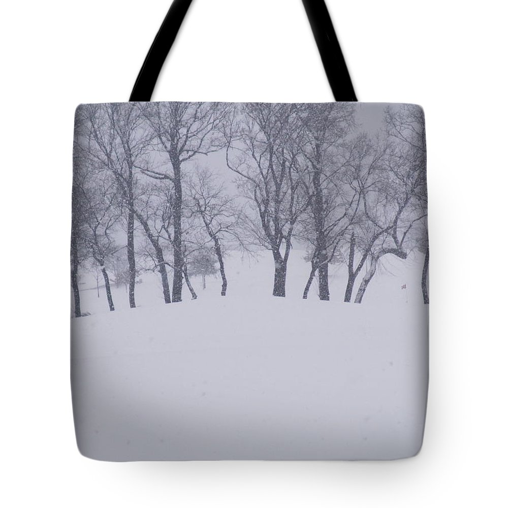 Tote Bag featuring the photograph Snow Line by Lindsay Warren