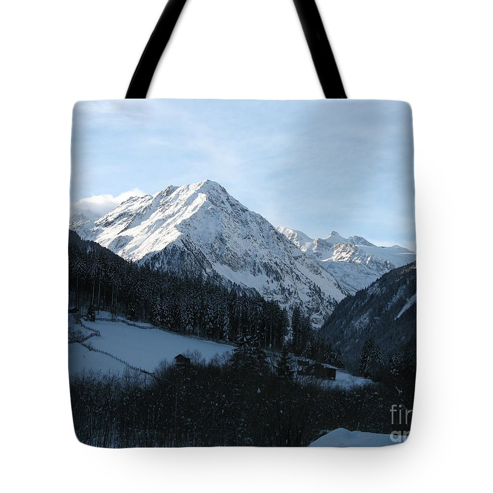 Snow Tote Bag featuring the photograph Snow On The Mountains by Christiane Schulze Art And Photography