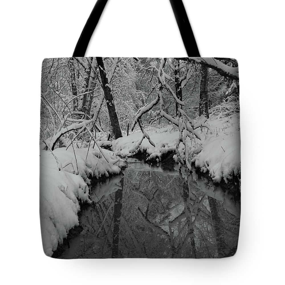 Snow Tote Bag featuring the photograph Snowy River by Images By Paige