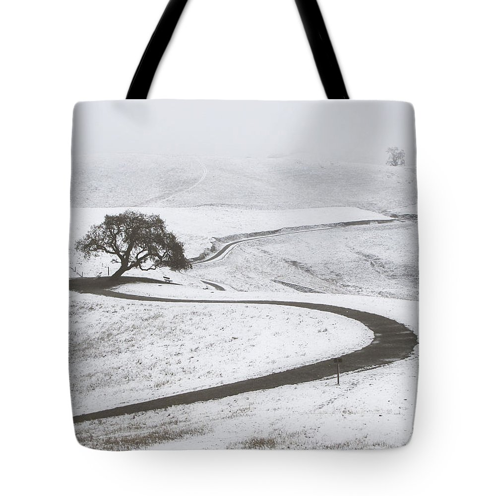 Snow Tote Bag featuring the photograph Snow Without You by Karen W Meyer