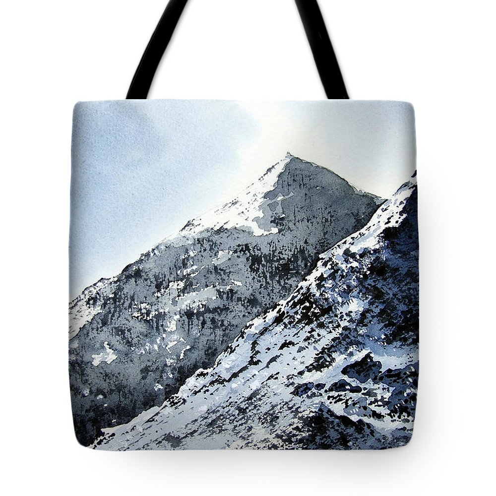 Snowdon Tote Bag featuring the painting Snowdon by Paul Dene Marlor