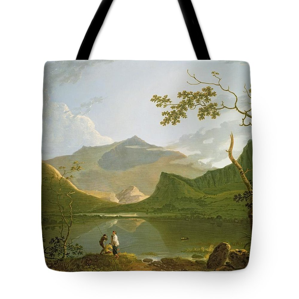 Snowdon Tote Bag featuring the painting Snowdon by Richard Wilson