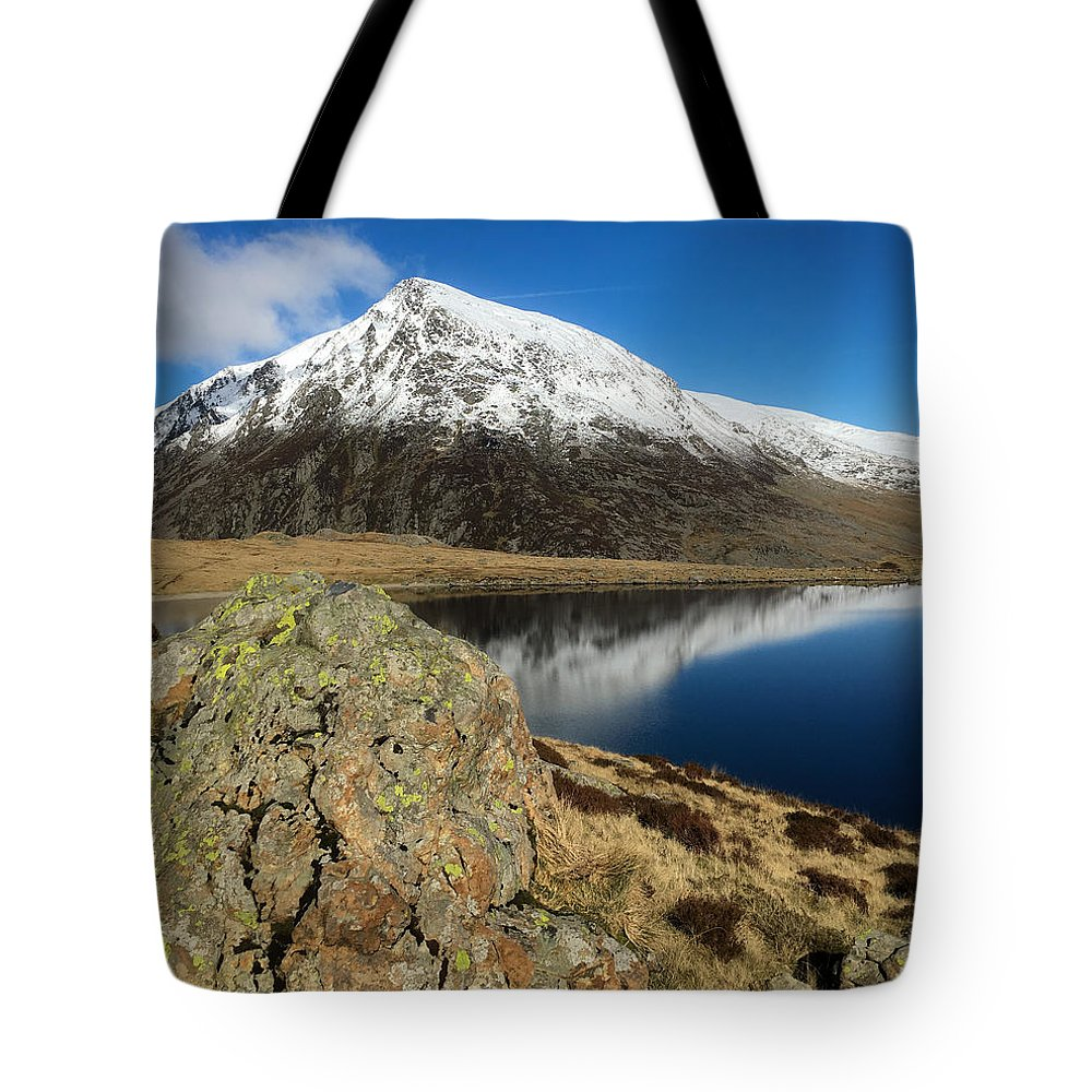 Snowdonia Tote Bag featuring the photograph Snowdonia One by Mo Barton