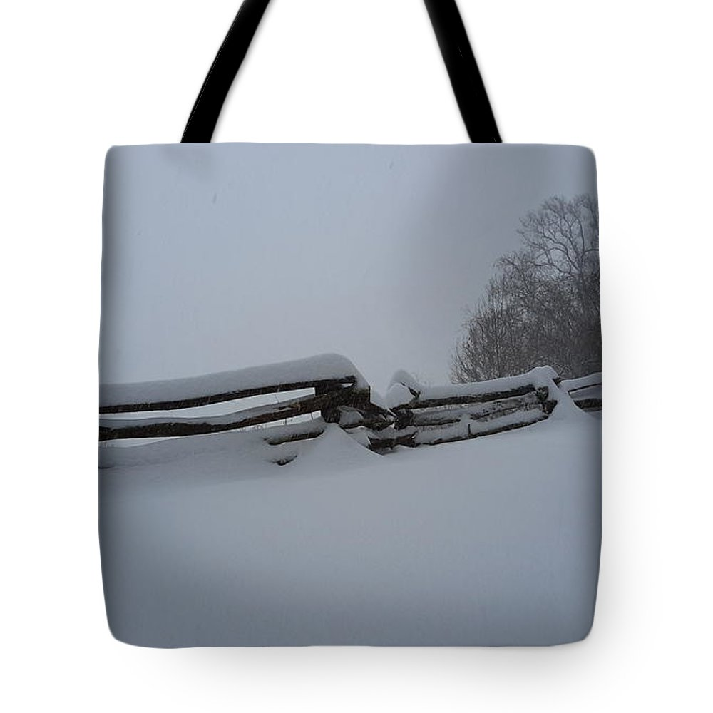 Snow Tote Bag featuring the photograph Snowed In by Joe D Dry